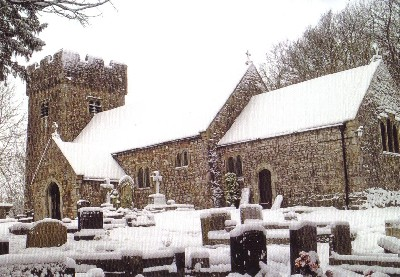 llanilid church outside winter