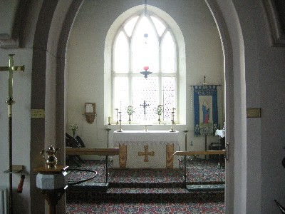 pencoed church inside altar